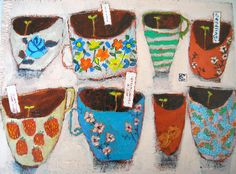 Vanessa Cooper - repetition of same type of object with different treatments of pattern and colour