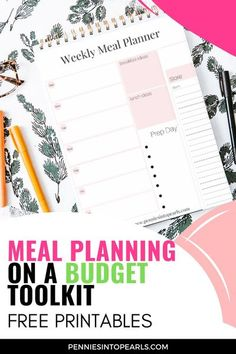 Save thousands of dollars a year! By using this Meal Planning on a Budget Toolkit you will start to see YOUR MONEY build up in your bank account, all while saving time and stress at dinner time! #printables #freeprintable #mealplanning Money Hacks, Money Tips, Money Saving Tips, Budget App, Budget Meals, Saving Time, Saving Ideas, Frugal Living Tips, Frugal Tips