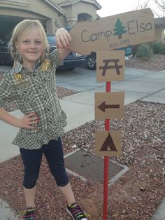 The Busy Broad: Camping Themed Birthday Party Decorations