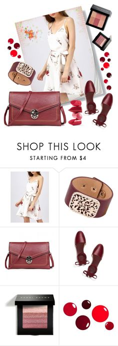"""""""floral dress by twinkledeals"""" by teto000 ❤ liked on Polyvore featuring Rossetto, Tory Burch and Bobbi Brown Cosmetics"""