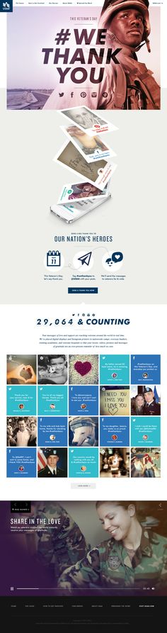 Heather Luipold: USAA | web design inspiration / patriotic / red, white and blue / nostalgic