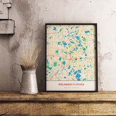 Now available in our store: Premium Map Poste... Check it out here! http://shop.mapprints.co/products/premium-map-poster-of-orlando-florida-simple-colorful-unframed-orlando-map-art?utm_campaign=social_autopilot&utm_source=pin&utm_medium=pin