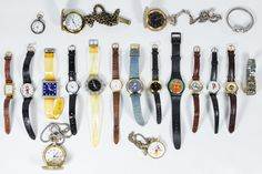 Lot 532: Pocket and Wrist Watches; Including (14) wrist watches with examples from Criterion, Churny, Xanadu and Faded Glory and (5) pocket watches with examples from Majestron, Lorus, Quin and Milan