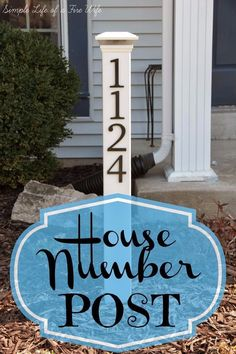 DIY House Numbers - House Number Post - DIY Numbers To Put In Front Yard and At Front Door - Architectural Numbers and Creative Do It Yourself Projects for Making House Numbers - Easy Step by Step Tutorials and Project Ideas for Home Improvement on A Budget http://diyjoy.com/diy-house-numbers #simplehomeimprovementideas