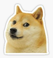 A Doge meme. Caption your own images or memes with our Meme Generator. Meme Stickers, Snapchat Stickers, Cool Stickers, Printable Stickers, Laptop Stickers, Red Bubble Stickers, Aesthetic Stickers, Dog Lovers, Vsco
