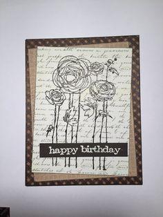 Happy Birthday Card//Friend Card//Handmade by MyArtLyfe on Etsy