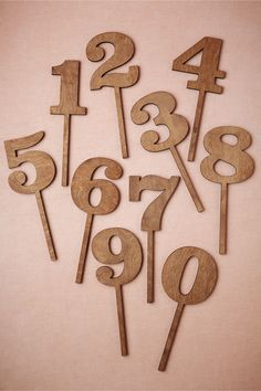 Great Outdoors Table Numbers from BHLDN