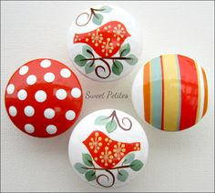 Hand Painted Knob Dresser Drawer Love by SweetPetitesBoutique
