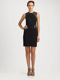 Kurt Thomas Sequin-Contrast Dress