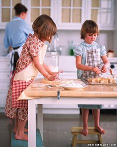 Simple, functional aprons are critical in the kitchen, particularly when little ones are involved. Try these oilcloth aprons on for size.  Use the Martha Stewart Crafts durable oilcloth finish for fabric-to-fabric projects to create a shiny oilcloth finish on a fabric of your choice. The formula is machine washable and nontoxic. Shop for Martha Stewart Crafts Decoupage