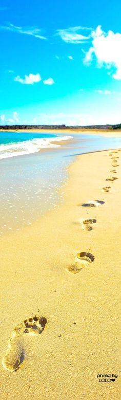 This reminds me of the poem, Footprints In The Sand.  I needed it yesterday, and so found & pinned a bunch of them to my faith board yesterday.