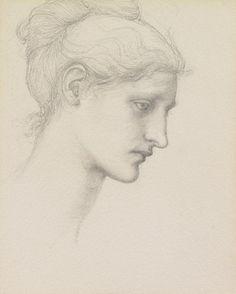 Study For Laus Veneria Drawing,by Sir Edward Burne-Jones