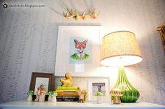 abodelove.blogspot.com #nursery #woodland #birch #stencil #fox