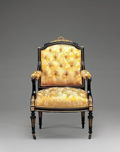 1860 American (New York) Armchair at the Metropolitan Museum of Art, New York
