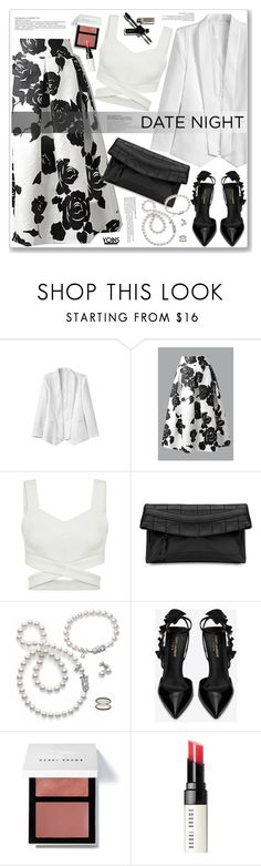 """""""LOVE YOINS"""" by nanawidia ❤ liked on Polyvore featuring Mikimoto, Yves Saint Laurent and Bobbi Brown Cosmetics"""