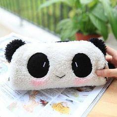 Amazon.com : Cute Soft Plush Panda Pencil Pen Bag Cosmetic Makeup Bag Pouch : Beauty