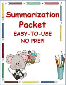 Summary Packet~ This kid-friendly packet makes it easy for students to independently write summaries. Students follow step-by-step directions to create a clear, logical, and complete summary of any fiction or nonfiction selection. Teach the process one time, then let the students use it over and over, all year long!