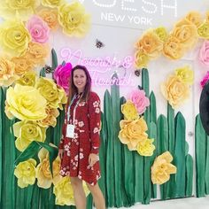 Beautiful booth turned out for this year :) Giant Paper Flowers, Create, Beautiful
