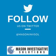 Mason Investigative Solutions Private Investigator in Gilbert, AZ.   We are on Twitter too! Stop by and say hello!