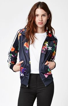 965b8d9a06 Adidas Floral Firebird Track jacket - Pacsun Latest Adidas Sneakers