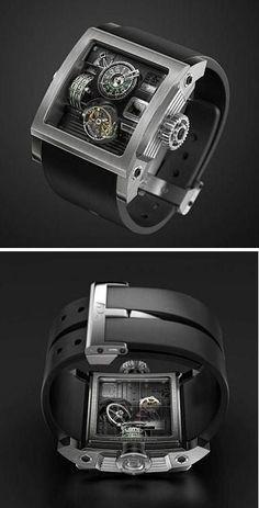 The HD3 Bi-Axial Vulcania watch