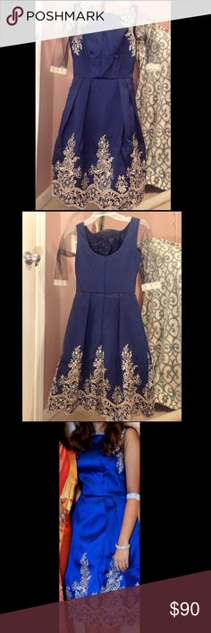 Chi Chi London dress Chi Chi London Embroided Midi Dress with Premium Metallic Lace Hem. I had a tailor add 3/4 sleeves to this dress. If you don't like the sleeves they can easily be taken off! Only wore it once to an engagement. Chi Chi London Dresses Midi