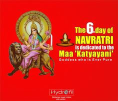 The 6th day of Navaratri is dedicated to Maa Katyayani, the 6th Avtar of Goddess Durga