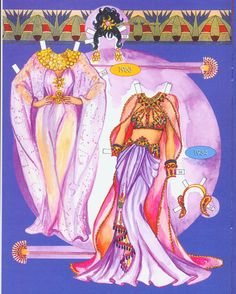 Cleopatra's costumes. Page 2 of 8 Pages. By David Wolfe, Paperdollywood.