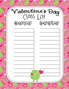 232e0ba60db4c029777783c1469fd318--cl-list-template-name-list Valentine S Day Clroom Newsletter Template on