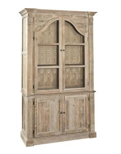 Arch Reclaimed Wood Sideboard with Hutch Cabinet Cane Furniture, Farmhouse Furniture, Home Office Furniture, Furniture Deals, Painted Furniture, Hutch Cabinet, Tall Cabinet Storage, Apothecary Cabinet, Bookcases For Sale