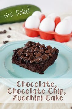 Chocolate Chocolate Chip Zucchini Cake (it's Paleo!)