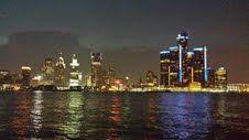 Detroit Sky Line at night