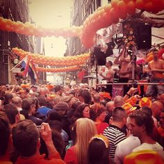 Queen's Day = crazy party in Holland! #travel