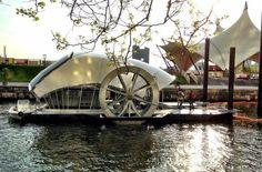 Baltimore man builds ingenious water wheel to remove harbor trash