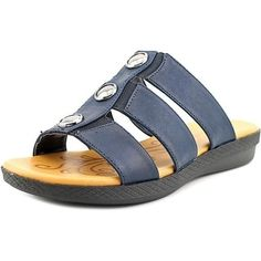 de11299d2a9f Shop for Easy Street Bide Open Toe Canvas Slides Sandal. Free Shipping on orders  over. overstock.com
