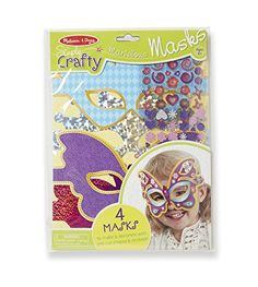 Kids' Paper Craft Kits - Melissa  Doug Simply Crafty Marvelous Masks Activity Kit Makes 4 Masks -- Click image to review more details.