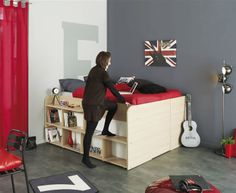 Kids Avenue Space Up Double Bed - Step view demonstration