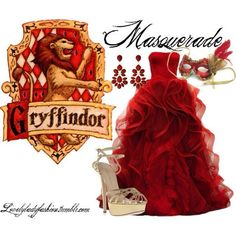Griffindor masquerade inspired outfit If only Mode Harry Potter, Harry Potter Dress, Images Harry Potter, Harry Potter Style, Harry Potter Wedding, Harry Potter Outfits, Harry Potter Memes, Masquerade Dresses, Masquerade Party