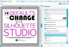 Silhouette Studio default settings that you should change!