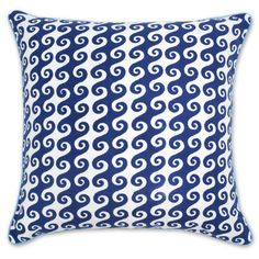 Jonathan Adler Blue Bobo Waves Pillow in Bobo Pillows