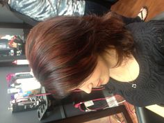Red highlights- I like the cut too!