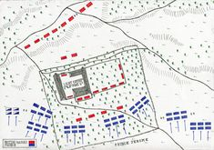 Map of the Hougoumont Château at the Battle of Waterloo on June map by John Fawkes Waterloo Map, Battle Of Waterloo, Military Art, Military History, Waterloo Battlefield, Napoleon French, France, Napoleonic Wars, Historical Romance