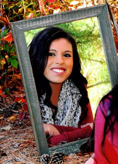 Senior picture with mirror