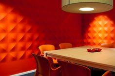 Schalldämpfung im Raum-Dekor-Abstrakte Wandplatten in Rot-3d Muster