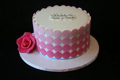 Pink Ombre Polka Dot Cake