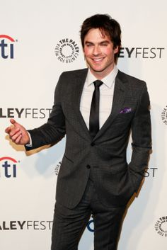 Ian Somerhalder on the carpet during The Vampire Diaries panel during Paleyfest 2014 held at The Dolby Theatre in Hollywood on Saturday evening (March 22).