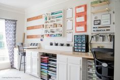 Creative, Thrifty, & Small Space Craft Room Organization Ideas