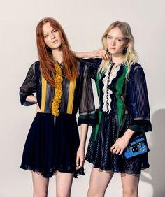 visual optimism; fashion editorials, shows, campaigns & more!: ola rudnicka, magdalena jasek and maja salamon by elisabeth toll for harper's bazaar poland may 2015