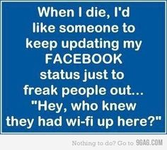 Would be awesome! Maybe a ghost can do this...LOL