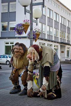 Trolls in the town #Akureyri #Iceland